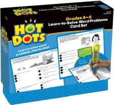 Hot Dots Learn To Solve Word Problems Card Set 4-6