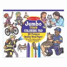 Melissa & Doug Jumbo Coloring Town