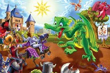 Cobble Hill Floor Puzzle 36pc Knights & Dragons