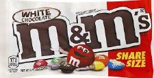 M&ms White Chocolate Share Size