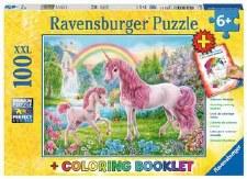 Ravensburger 100pc Xxl & Coloring Book Magical Unicorns