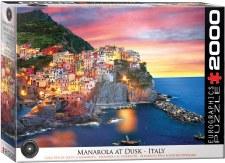 Eurographics 2000pc Manarola At Dusk Italy