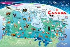 Cobble Hill Floor Puzzle 48 Pc Map Of Canada