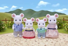 Calico Critters Marshmellow Mouse Family