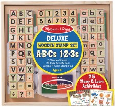 Melissa & Doug Abc 123 Deluxe Wooden Stamp Set