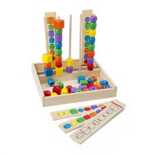 Melissa & Doug Bead Sequencing Set 50 Pc