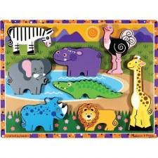 Melissa & Doug Chunky Puzzle Safari
