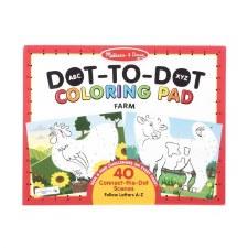 Melissa & Doug Dot To Dot Coloring Pad Farm