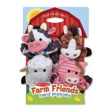 Melissa & Doug Farm Friends Hand Puppets 4 Pack