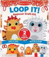 Melissa & Doug Loop It Farm Puppets