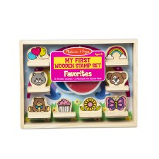 Melissa & Doug My First Wooden Stamp Set Favourites