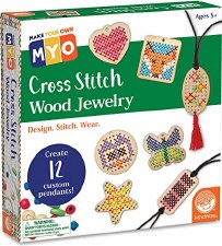 Make Your Own Cross Stitch Wood Jewelry
