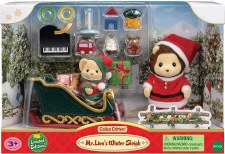 Calico Critters Mr Lion Winter Sleigh