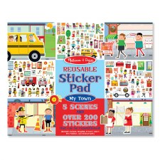 Melissa & Doug Reusable Sticker Pad My Town