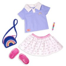 Our Generation Rainbow Academy Deluxe Outfit