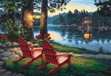 Dimensions Paint By Number Adirondack Evening 20x14