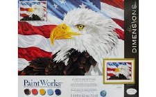 Dimensions Paint By Number Bald Eagle 20x14