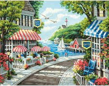 Dimensions Paint By Number Cafe By The Sea 14x11