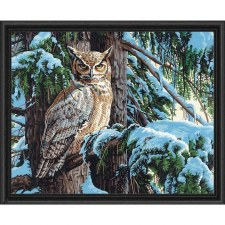 Dimensions Paint By Number Great Horned Owl 20x16