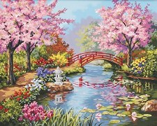 Dimensions Paint By Number Japanese Garden 16x20