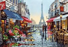 Dimensions Paint By Number Paris Flower Shop 20x14