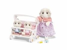 Calico Critters Patty & Padens Double Stroller Set