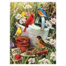 Paint By Number Garden Birds