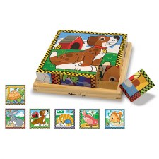 Melissa & Doug Pets Cube Puzzle