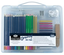 Royal & Langnickel Drawing Art Set Clear View Case 35pc