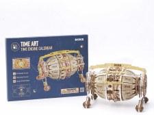 Diy Wooden Mechanical Gears Time Engine Calendar
