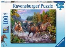 Ravensburger 100pc Rushing River Horses