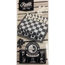 Rustik Magnetic Chess & Checkers Travel Set