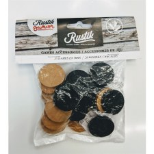 Rustik Wooden Checkers Chips