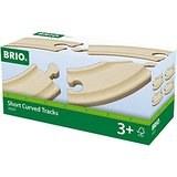 Brio Short Curved Tracks 33337