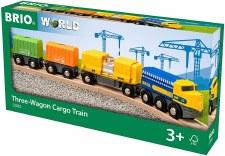 Brio Three-wagon Cargo Train 33982