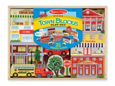 Melissa & Doug Town Blocks Playset