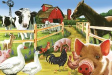 Cobble Hill Floor Puzzle 36pc Welcome To The Farm