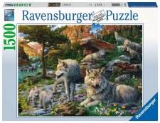 Ravensburger 1500 Pc Wolves In Spring