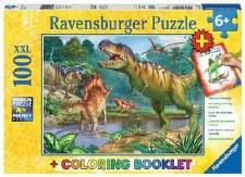 Ravensburger 100pc & Coloring Book World Of Dinosaur