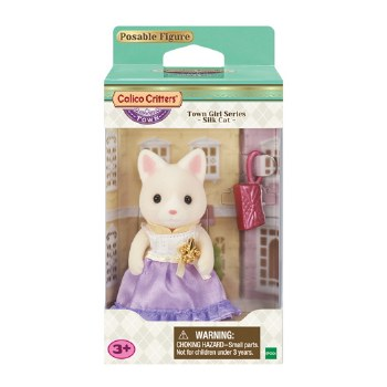 Calico Critters Town Girl Silk Cat Lulu