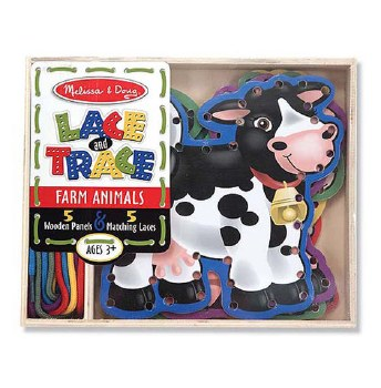 Melissa & Doug Lace and Trace- Farm Animals