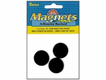 "Darice Magnets- Adhesive 1"" Round Discs"