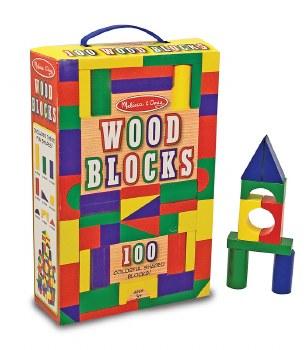 Melissa & Doug 100 Wood Blocks Set