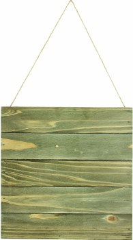 """Plaque With Wood Slats- 10""""X10"""""""