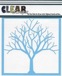 Clear Scraps 12x12 Stencil- Bare Tree