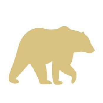 """Bear MDF Cut Out- 12"""""""