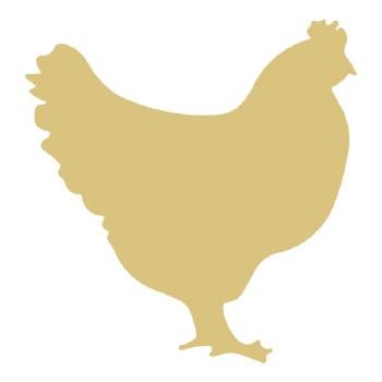 "Chicken MDF Cut Out- 12"""