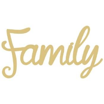 "Family Script MDF Cut Out- 12"""