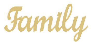 Family Script MDF Cut Out- 12""