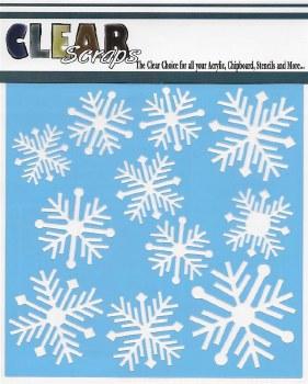 Clear Scraps 12x12 Stencil- Nordic Snowflake